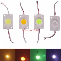 Wholesale 3w led blue - 3W injection COB LED Module light DC 12V advertising light Red Green blue yellow warm white IP65 Waterproof