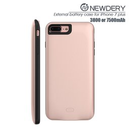 Wholesale Iphone Cheap Battery - 2016 newest battery cover case ABS+TPU wireless charger case for iPhone 7plus cheap aluminum cases with retail package