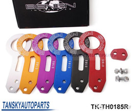 Wholesale Benen Hooks - Hot-selling BENEN-0185 Billet Aluminum Anodized Universal Rear Tow Hook (red,blue,black,silver,golden,purple) TK-TH0185R