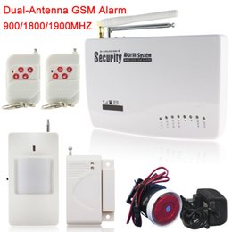 Wholesale Alarm System Sms Calling - Russian English Spanish Voice 433MHz Wireless Wired Home Security Burglar GSM Alarm System Auto Dial SMS Call drop Shipping