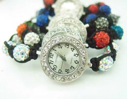 Wholesale Quartz Shamballa Watch Bracelet - Wholesale-Sale shamballa bracelet watch women ladies fashion shamball crystal bead quartz wrist women watch