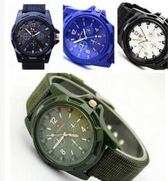 2020 relojes de lujo suizo ejercito 2016 de Lujo Suizo Analógico Gemius Ejército Reloj Tela Tela Moda Deporte Militar Relojes de Pulsera para Ginebra cuarzo Relojes de Los Hombres relojes de lujo suizo ejercito baratos