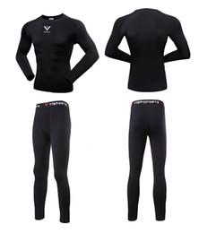 Wholesale Men S 4xl Underwear - 2017 Men\'S Outdoor Sport Hot-Dry Technology Surface Bicycle Skiing Winter Warm Long Jersey Set & Fitness Thermal Underwear Fleece