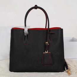 Retro bags style for women on-line-Estilo clássico! 2015 nova moda genuína couro genuíno das mulheres bolsa de ombro bolsa feminina bolsa retro grande saco de compras
