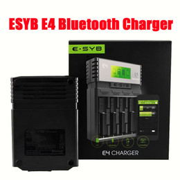Wholesale Ion Bluetooth - 100% Authentic ESYB E4 Bluetooth Charger 4 Bay Intelligent Battery Charger 18650 18350 26650 Li-ion Rechargeable batteries DHL Free FJ702