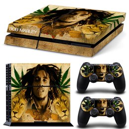 Wholesale Bob Marley Decals - Bob marley Lions Full Set Vinyl Skin Sticker Protective Decor Decals For Sony PS4 Console & 2 PCS Cover Skins of Controllers