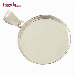 Wholesale 925 Silver Bails - Bezel Cup Tray with Bail Sterling Silver 925, 21.5mm, inside diameter:20mm, sold by PC, ID 27612