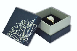 Wholesale Small Ring Display Box - 2017 Hot Wholesale 12pcs lot Display Jewelry Box to Ring Boxes 5*5*3.5cm Small Gift Box Packaging Trinket Organizer Blue or Red