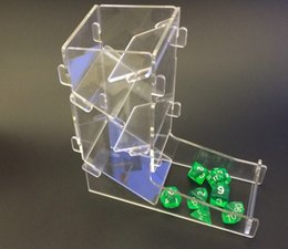 Wholesale Plastic Film Material - Wholesale- Dice DND Dice Tower Run Mission Artifacts Import Material Sieve Sub Creative Manila Thrown Dice Top with Plastic Films