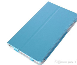 Wholesale Huawei Mediapad Case Inch - Wholesale Colorful New leechee Folding Folio stand Leather Cover CASE For HUAWEI MediaPad M1 8 inch Magnetic bag