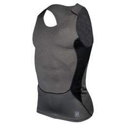 Wholesale Men Tight Vest - Wholesale-Factory Price! Men Compression Tight Tee Shirts Base Layer Fitness Gym Workout Vest Tank Tops S M L XL XXL Hot LH6s