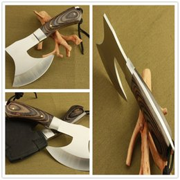 Wholesale Tomahawk Axes - Tomahawk Axe Army 440 steel Wood handle Hunting Camping tactical gear Machete Axes Hand pocket Tool MNI Fire Axe gift Hatchet