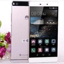 Wholesale Huawei Smartphones - Original Huawei P8 Smartphones 5.2 inch Unlocked Cell Phones Octa Core 3GB RAM 16GB 1920P GPS Dual 4G LTE Mobile Phones