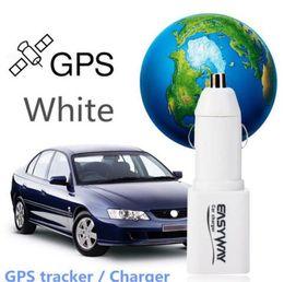 Wholesale Sim Card Voice - Car Cigarette GPS Tracker GSM GPRS Car Charger Locator GSM SIM Card Listening Device Voice Callback Audio Surveillance Spy Hidden Vehicle