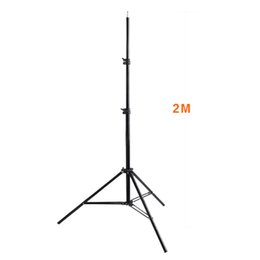 Wholesale Weight Lamp - Wholesale- fosoto 2M Light Stand Tripod With 1 4 Screw Head Bearing Weight 5KG For Softbox Photo Video Reflector Lighting Flashgun Lamps