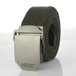 Wholesale Thick Canvas Belt - Hot Male Tactical Belt Top Quality 4 Mm Thick 3.8 Cm Wide Canvas Belt For Men NO5 Automatic Buckle Man Extended 160 Cm Belts