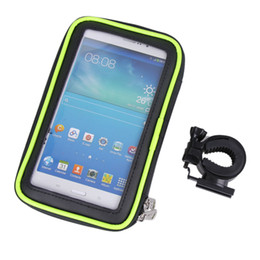 Wholesale Bicycle Frame Handle - U-shaped Double Zipper Waterproof Cycling Bicycle Frame Phone Bag Handlebar Case Touch Screen 4.5-6.0 inch Phone Bike Pouch NEW
