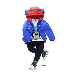 Wholesale Coat Kids Down Jacket 5pcs - Hot baby girl winter clothes fashion winter jackets kids boys girls down hoodie clothing cartoon style children warm clothes 5pcs lot