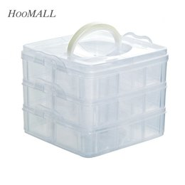 Wholesale Displays Case For Rings - Hoomall Plastic 18 Compartments Storage Box Case For Beads Rings Jewelry Display Organizer Jewelry Box Case
