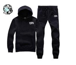 Wholesale Velvet Men Sport Pants - Free ! new autumn winter plus velvet warm hoodie sweat pants sport suit (coat+pants) male and female models BBC sweat suit
