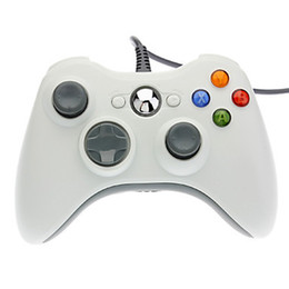 Wholesale Computers Laptops Accessories - Original Wired XBOX360 Game Controller Xbox 360 Gamepad Black USB Wire PC Joypad Joystick XBOX360 Accessory For Laptop Computer PC