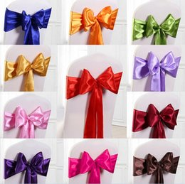 Wholesale Chair Straps - free shipping wedding banquet celebration from the Department of decorative coverings back bow straps back flower wedding ribbon