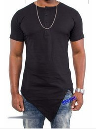 Wholesale Desinger Clothes - New Desinger Bottom Irregular Hip Hop Man Spring Top T-shirt Men Tyga Swag Clothing Clothes Kanye West Tee