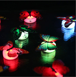 Wholesale Butterfly Party Decor - Lifelike Butterfly LED Night Lights Wedding Party Room Decors lights Baby Night Light LED Christmas Holiday Gifts led Glowing lights