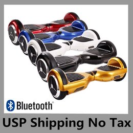 "Wholesale Mini Speaker Fast Shipping - 6.5"" Two Wheels Electric Scooter Drifting Board Smart Hoverboard Bluetooth Speaker Skateboard Mini Balance Wheel UPS No Tax Fast Shipping"