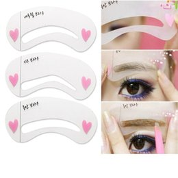 Wholesale Thrush Aids - 3Pcs set Thrush Card Threading A Word Eyebrow Makeup Tools Threading Artifact Thrush Aid Card Eyebrows Mold Cosmetic Accessories