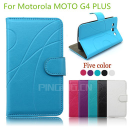 Wholesale Top Quality Phone Case - High quality Top fashion luxury Leather pouch flip phone case For Motorola MOTO G4 PLUS cover inside with credit card Slots