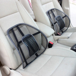 Wholesale Seat Covers Supports - Car Covers Mesh Lumbar Back Brace Support Office Home Car Seat Cushion Car styling Car Seat Back Support