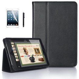 Wholesale Ipad Mini Smart Case Stylus - Magnetic PU Leather Folio Stand Case Cover with Stylus Holder for iPad mini Book wallet PU leather Case Free Gift screen Protector + stylus