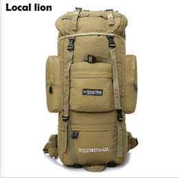 Wholesale 75l Outdoor Bag - HOT 85L Professional Climbing Backpack Outdoor Sport Hiking Camping Backpack Travel Mountaineering Bags Men's Tactical Backpack
