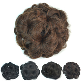 Wholesale Natural Hair Buns - Sara Chignon Hair Bun Flower hairstyle SyntheticHair Bun Chignon with Interposing Comb Clip Chignon Hair Pieces Extension Hairpiece