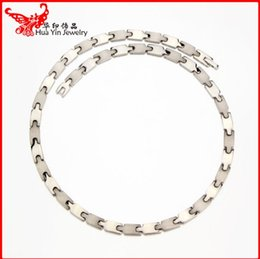 Wholesale Germanium Titanium Jewelry - Wholesale jewelry necklace gold and silver color of pure titanium man negative health titanium germanium necklace antifatigue free postage