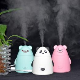 Wholesale Usb Bear - New Cartoon Bear USB Ultrasonic Air Humidifier Mini Essential Oil Aroma Diffuser Aromatherapy Home Office SPA Mist Maker LZ0244