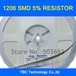 Wholesale Choice Films - Wholesale- Free shipping 1000pcs 1206 SMD 5%Resistor 0R 1R~10M for Your Choice(you can choose 10values each value 100pcs)
