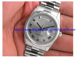 Wholesale Luxur Watches - Top quality luxur Details about MENS PLATINUM PRESIDENT RHODIUM ROMAN DIAL 118206 NEW dress watch men's Watches wristwatch