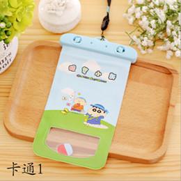 Wholesale super cute iphone cases - Super sealed cute cartoon pattern waterproof bag PVC phone waterproof case For iPhone 7 7 plus 6 6s plus 5 5s