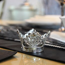 Wholesale Napkin Ring Crown - Elegant Imperial crown Napkin Rings Table Decoration,Low price High Quality Napkin Holder for Wedding and Hotel hot !