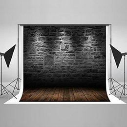 Wholesale Iron Materials - Kate 6.5x5ft Black Brick Wall Photography Backdrop Fabric Material Customized Photo Background Studio Seamless Can be ironed No crease