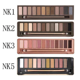 Wholesale Make Up Palette Naked - 2017 NEW NAKED 12color Professional Makeup NK Eyeshadow Palettes Smoky Eye Shadow Palette with Make up Brush Case Cosmetic free shipping