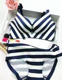 Wholesale Striped Bra Panties Set - sexy panties and bra images one piece bra for ladies with brand bra set no trace