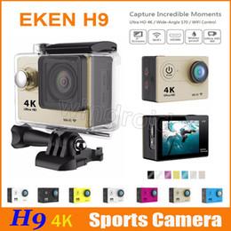 Wholesale Microsd Sale - Hot sale Ultra HD 4K Video Action Camera original EKEN H9 170° Wide Angle Sports Camera 2 inch Screen 1080p 60fps colors Free 30pcs