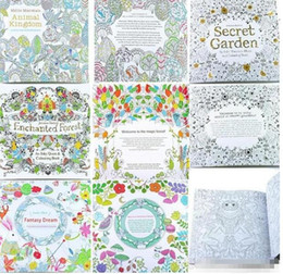 Wholesale Free Coloring Kids - kids toys Adult Coloring Books for children Secret Garden Animal Kingdom Fantasy Dream Enchanted Forest Kids Adult Painting Colouring Books