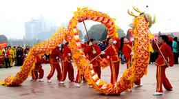 tessuto di stampa drago Sconti taglia 4 6m adulto tessuto di seta stampa 4 giocatori cinese DRAGON DANCE cerimonia nuziale all'aperto costume della mascotte cina cultura speciale festa di vacanza