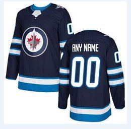 Wholesale Ice Stores - nhl hockey jerseys cheap Men's Winnipeg Jets Navy Home Authentic Blank Jersey store usa sports ice hockey blank customized factory womens AD
