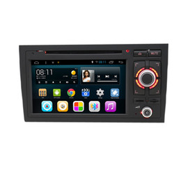 Wholesale Audi Gps Radio - Android 6.0 System Double Din Car DVD For Audi A6 1998*2005 GPS Tape Recorder RDS WIFI 3G OBD DVR Mirror Screen Phonebook BT USB SD RCA