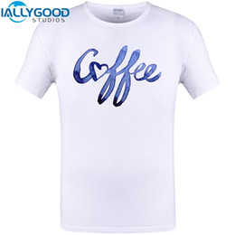 Wholesale Cool Designs Shirts - Creative Letter Coffee Love Print Mens Fashion T Shirt Cool Design Funny Tops Short Sleeve Hipster Men Tee Shirts Plus Size 6XL